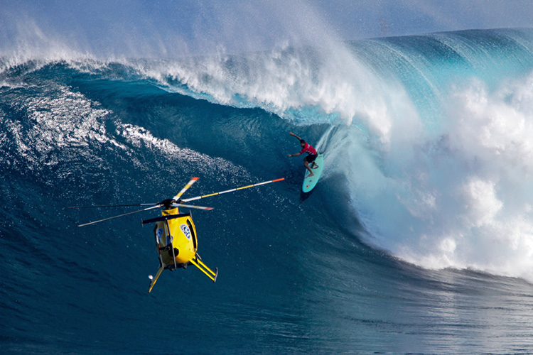 Big wave surfing: safety techniques are critical survival tools