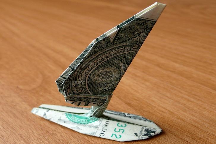 The Origami Windsurfer: expensive folding art | Photo: Craig Folds Five