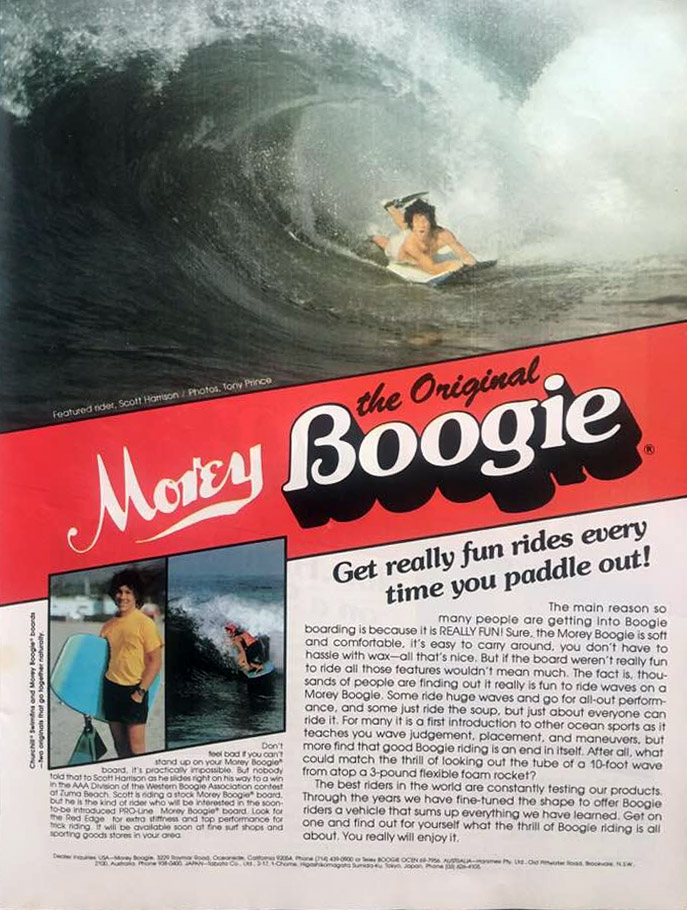 The Original Morey Boggie: the ad from the 1980s