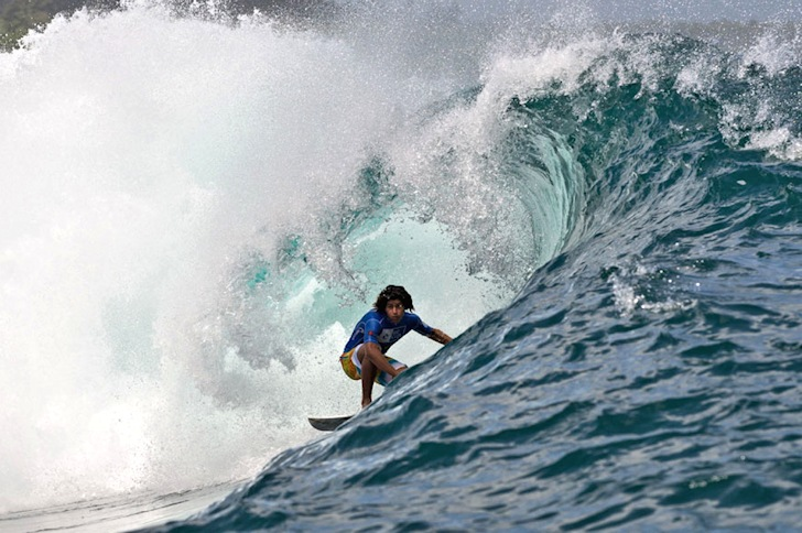 Pat Curren: big hair, big barrel