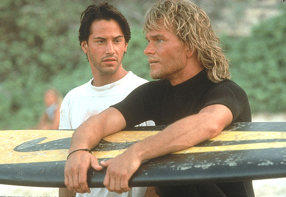 Patrick Swayze and Keanu Reeves in