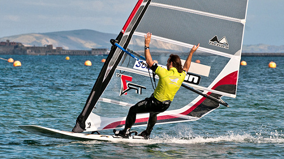 Patrick van Hoof: who says windsurfing needs hands?