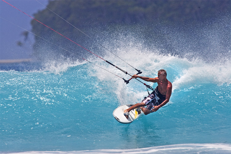 Pete Cabrinha: he quit windsurfing because he had too many wind toys