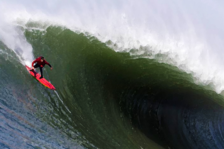 Swell of the decade hits Mavericks
