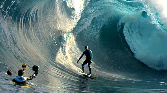 Surfing: a phantom is filming you
