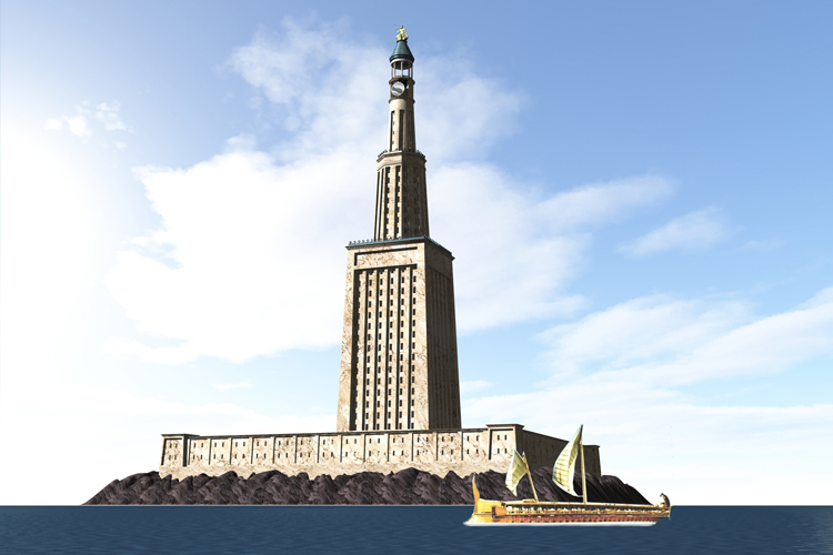 Pharos of Alexandria: the world's first lighthouse was built in Egypt | Illustration: Creative Commons