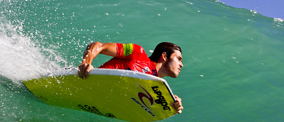 Pierre-Louis Costes: showing off his old Rip Curl logo