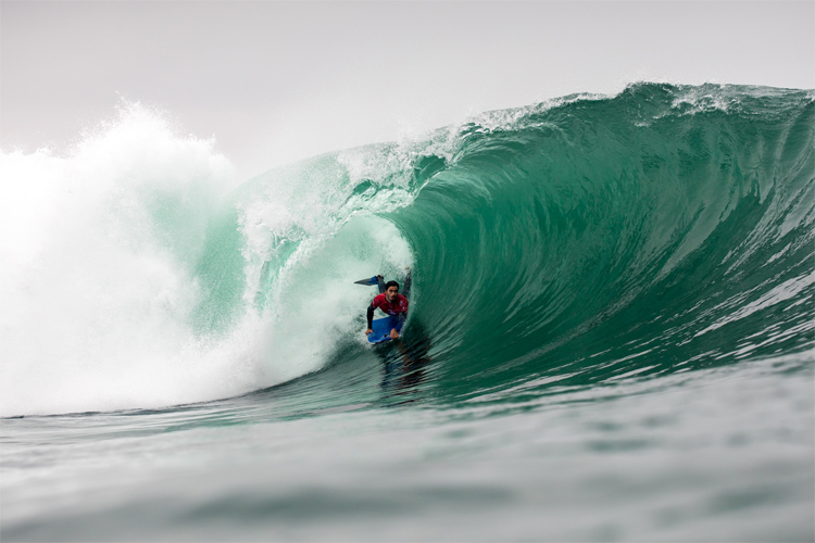 Pierre-Louis Costes: he found the barrel in El Flopos | Photo: Jimenez/APB