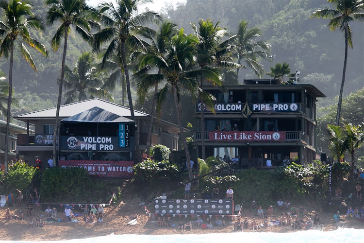 The Pipe House: the most famous surf building on the North Shore | Photo: Volcom