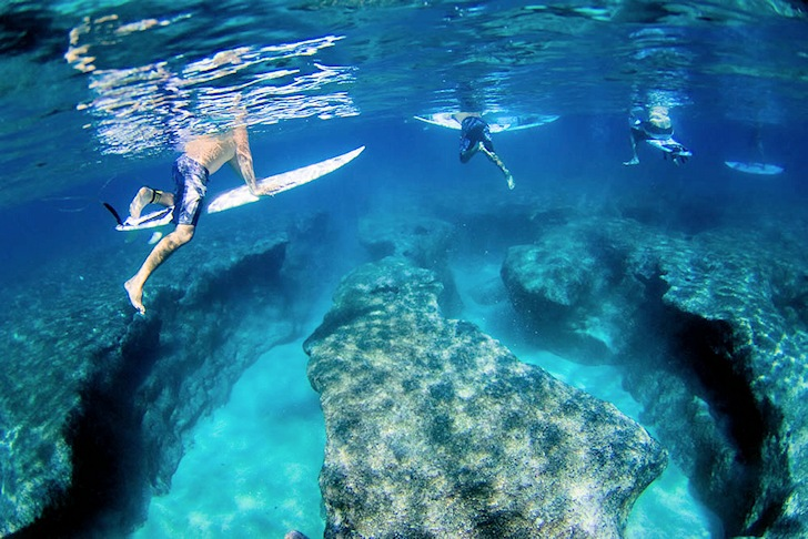 Pipeline: meet the underwater reef caves