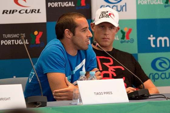 Tiago Pires and Mick Fanning