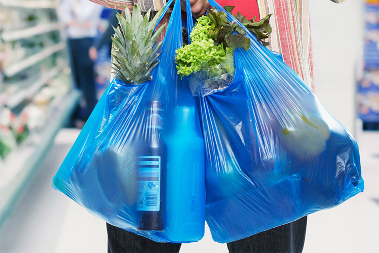 Plastic bags: banned from California's supermarkets