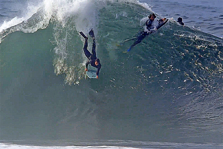 The Portuguese Wedge: a superb wave located somewhere in the north of Portugal