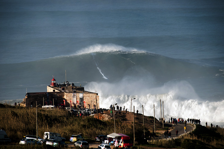 Praia do Norte: the Red Chargers will take on Nazaré | Photo: CMN/Estrelinha
