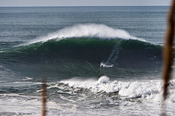 Garrett McNamara: charging at Praia do Norte, Nazare, Portugal
