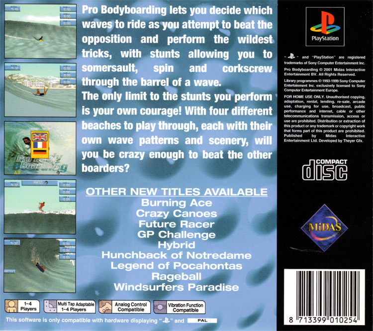 Pro Bodyboarding: the game allows you to ride with eight different male and female characters