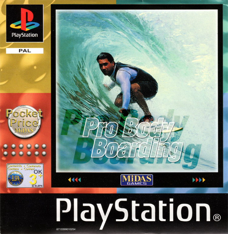 Pro Bodyboarding: the PS1 bodyboarding game with a surfer on its cover