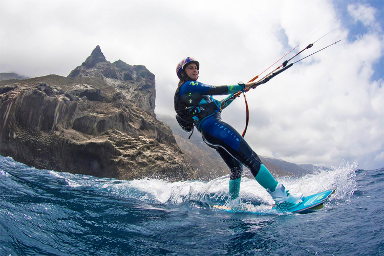 Gisela Pulido: she rode her kite for 380 kilometers and connected all Canary Islands | Photo: Desafio Movistar