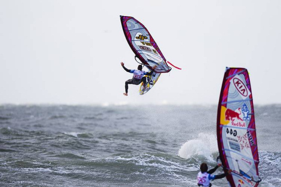 PWA Cold Hawaii: it's so cold some windsurfers need to stay out of the water