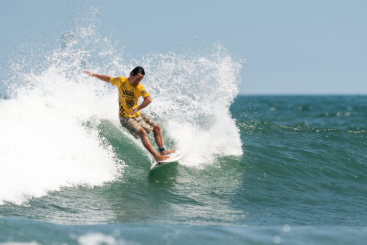 Qui Zhuo: one of the most talented Chinese surfers | Photo: ISA