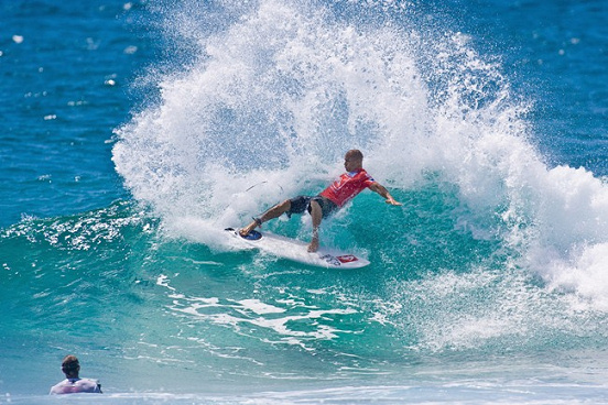 Kelly Slater in the 2009 Quiksilver Pro