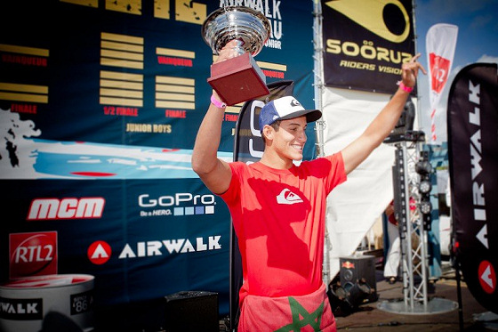 Ramzi Boukhiam: the European surfing champion from Morocco