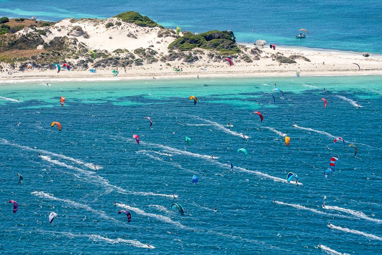 2019 Red Bull Lighthouse to Leighton: 138 kiteboarders racing in choppy waters | Photo: Peta-Anne North