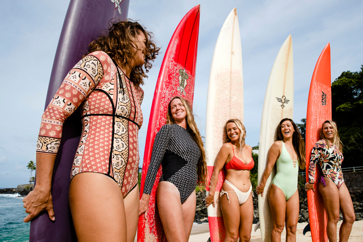 Red Bull Magnitude: the women's only surf competition requires a minimum wave height of 15 feet | Photo: Red Bull