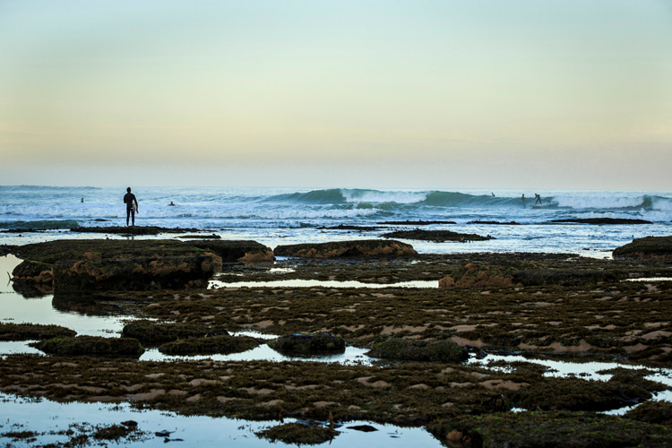 Ribeira d'Illhas: a peeling point break on a sand-covered reef    Photo: WSL