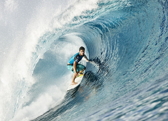 Ricardo dos Santos: winner of the Air Tahiti Nui VonZipper Trials 2012