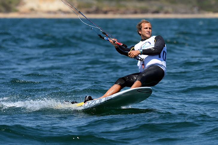 Riccardo Leccese drives kite to gold at the 2014 ISAF Sailing World Cup Melbourne
