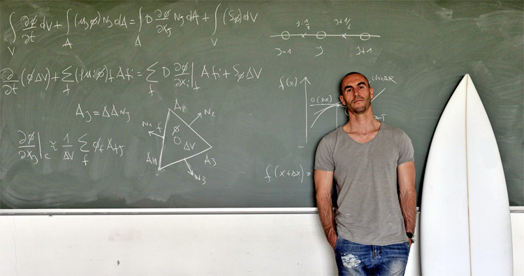 Riccardo Rossi: the Italian surfer-scientist is a CFD expert | Photo: Rossi