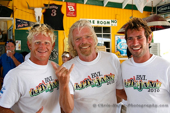 Richard Branson: one day he'll leave everything for kiteboarding