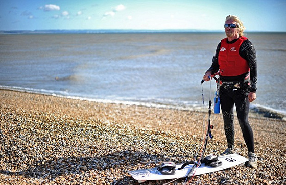 Richard Branson: ready to kite cross the English Channel