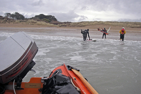 RNLI rescue windsurfers