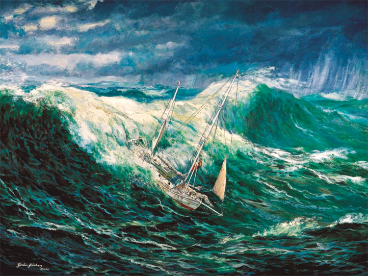 Roaring Forties: winds of up to 35 knots that produce 33-foot open ocean waves | Illustration: Robin Knox-Johnston