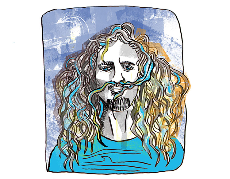 Rob Machado: surf art by Yago