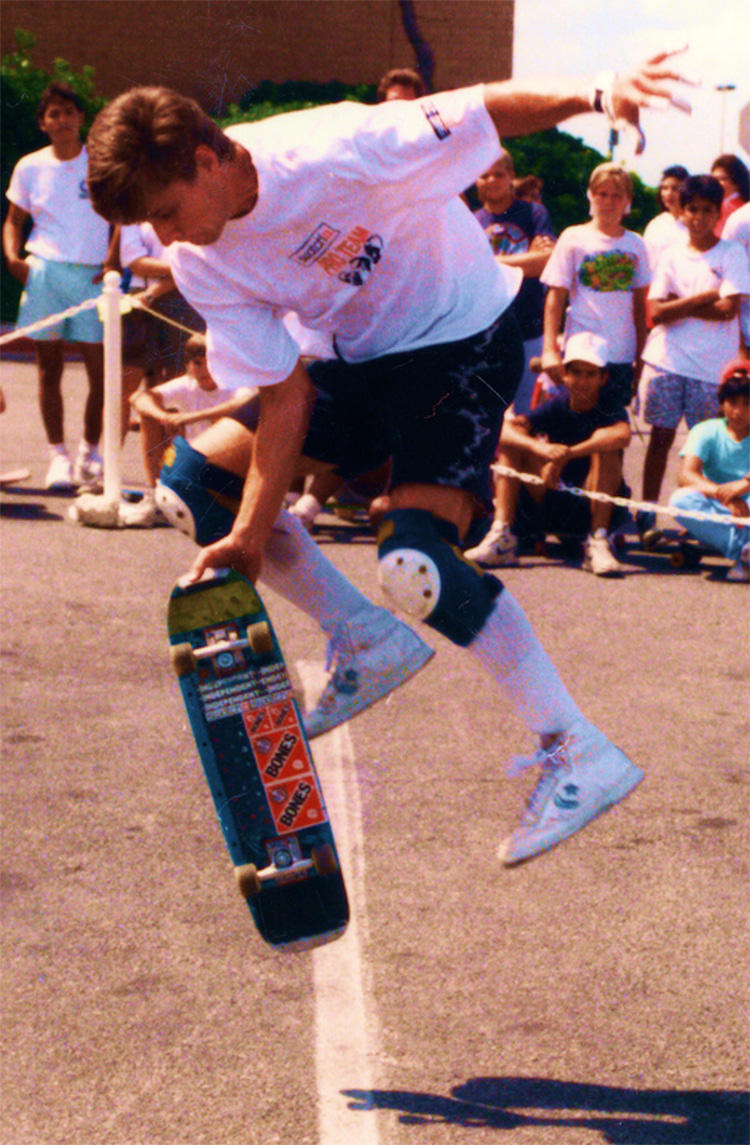 Rodney Mullen: showing his freestyle skating skills at the North Star Mall in San Antonio, Texas   Photo: Don Walheim/Creative Commons
