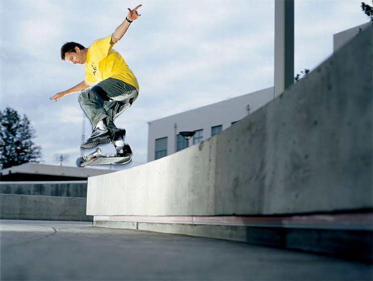 Rodney Mullen: he brought his freestyle skateboarding skills into new school, street skating   Photo: Dwindle