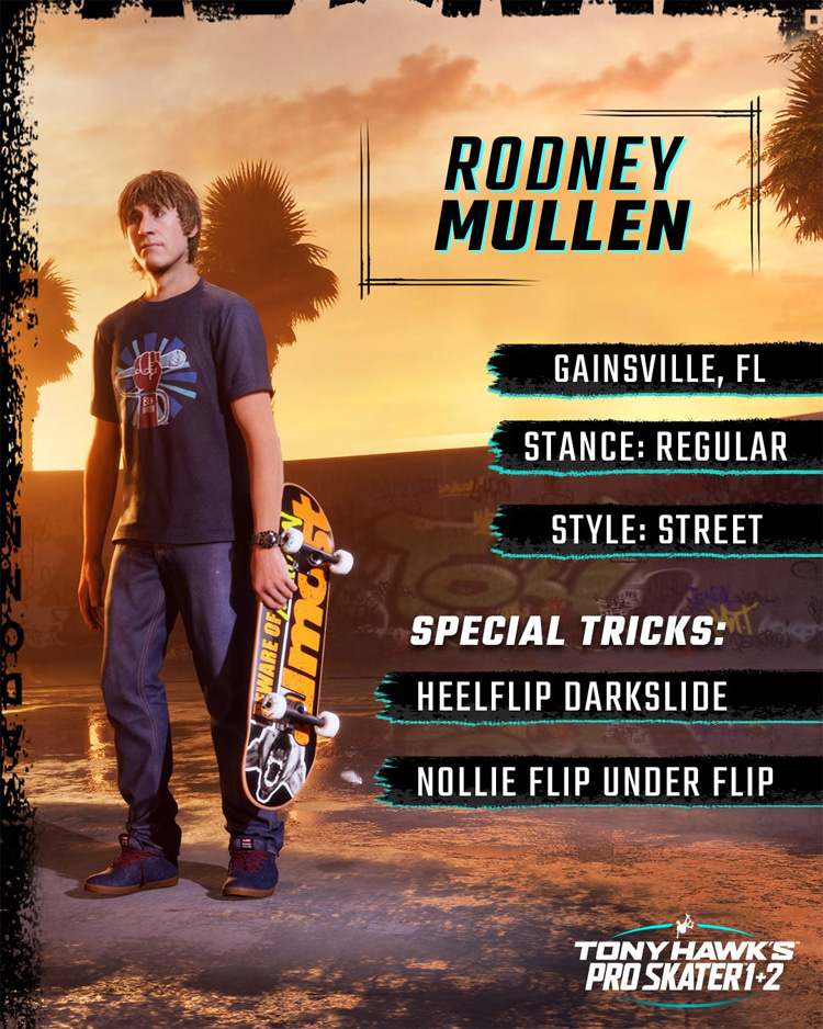 Rodney Mullen: one of the stars of the Tony Hawk Pro Skater video game series