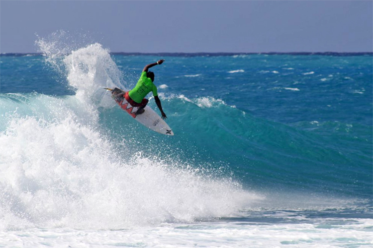 Ronald Hastings: the dominated the junior surfing division | Photo: JSA