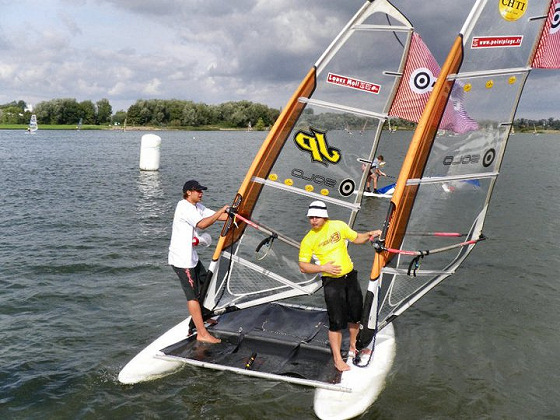 La Route du Ch'ti: windsurfing is all about team work