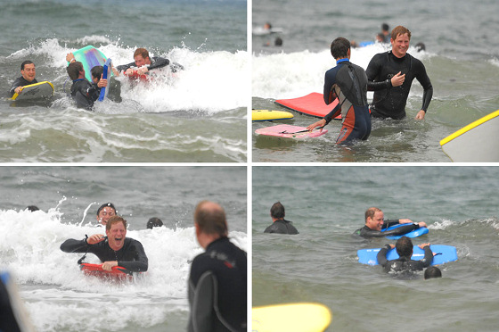 William and Harry: forget Wimbledon, let's hit the waves | Photo: Marc Giddings