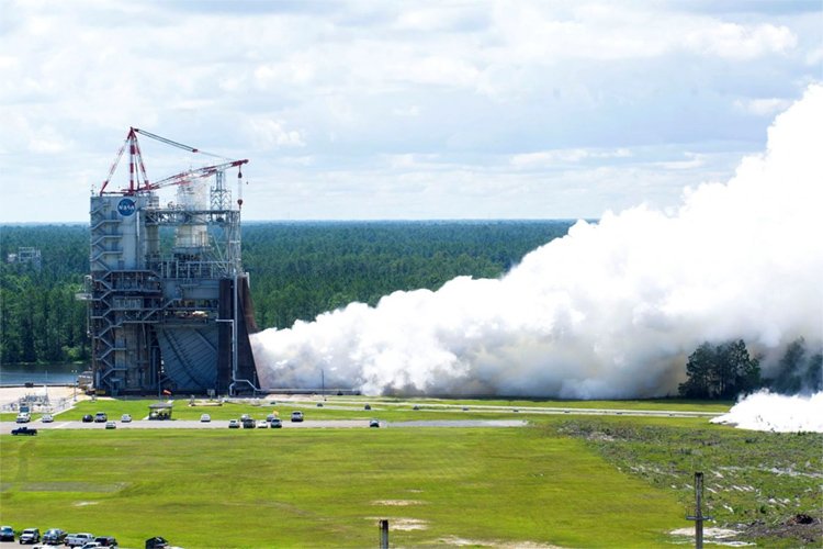RS-25 engine: it creates rain artificially, but it was not built to control weather | Photo: NASA