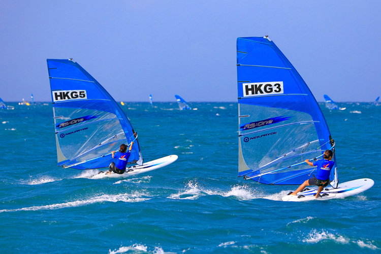 2016 RS:One World Championships: the windsurfers from Hong Kong dominated the event | Photo: RS:One