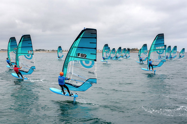 RS:One Convertible: the foil windsurfing class competed for European titles in in Penmarch | Photo: RS:One
