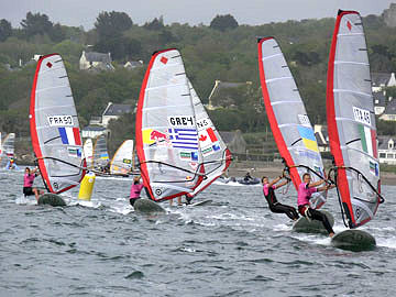 2008 RS:X European Championships: João Rodrigues returned to the podium