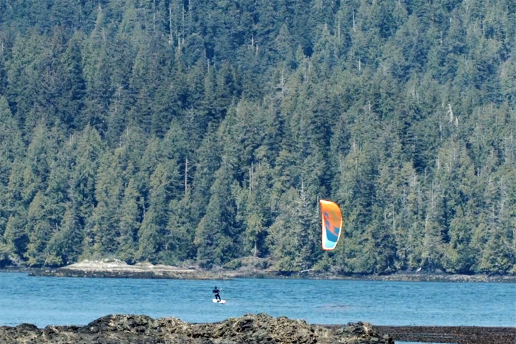 """Rugged Point,"" a kiteboarding heaven in Canada's west coast"