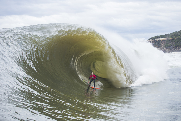 Russell Bierke: deep in the barrel at Cape Fear | Photo: Sloane/Red Bull