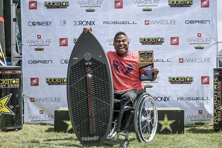 Ryan Major: he put out an impressive run at the 2019 Nautique USA National Wakesurf Championships | Photo: WWA